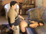 Twisted Fatty Handcuffed And Gagged Girl Next Door And Fucks Her Doggystyle