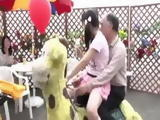 Creepy Japanese Stepfather Take Advantage Of HIs Sweet Litlle Stepdaughter In The Amusement Park