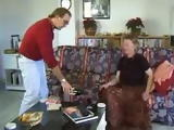 Horny British Granny is Fucked in South Spain by Two Guys