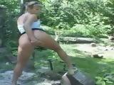 German Babes Public Outdoor Pissing 1xLx