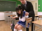 Pervert Teacher Just Couldnt Resist Those Huge Melons Of His Student Tsukada Shiori And Took Advantage Of Her With Her C