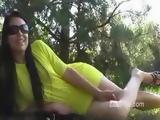 Zuzinka Yellow Dress Outdoor Rubbing & Peeing xLx