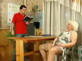 Russian Granny Teacher Fucks With Her Student