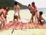 Unforgettable Day At Beach With 4 Teens  Sakurai Ayu Ayaka Tomoda Ninomiya Nana Mizusaki Akane