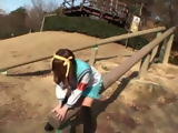 Cute Teen Haruhi Suzumiya Gets Her Hairy Pussy Creampied Uncensored After She Finishes Play at the Park