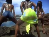 Black African Ladies Twerking Outdoors