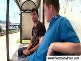 Public blowjob at the busstop