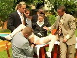 Outdoor Business Meeting Ended With Rough Orgy With Her Clients