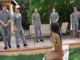 Group Of Pissed Workers Revenge Boss By Fucking His Ebony Daughter in Gangbang For Not Giving Them Salary on Time