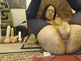 Very dirty girl does anal and squirts